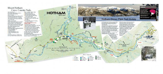 Cross Country Trail Map Mount Hotham